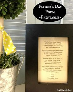 Father's Day Poem + Printable | R & R Workshop #poem #giftidea #fathersday