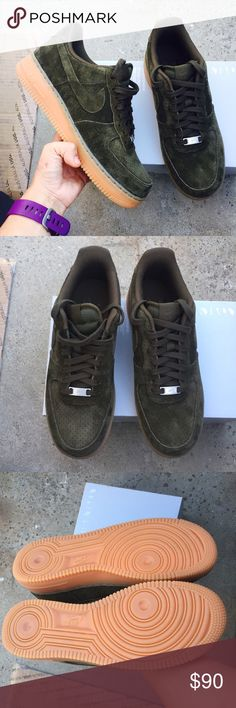 NIKE Air Force suede sneakers Sz 10 new NIKE Air Force suede sneakers Sz 10 new box is missing lid. Color dark Loden. 100% authentic . Itemcloset#4och Nike Shoes