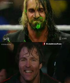 Hehe oops I laughed so hard when this happened  Go Ambrose thank you!!!! #TeamAmbrose!!!!
