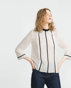 Image 2 of INSERTION LACE BLOUSE from Zara