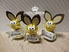 EinfallsReich: Frohe Ostern presents pote Easter Crafts, Christmas Crafts, Easter Gift, Diy And Crafts, Crafts For Kids, Easter Presents, Diy Presents, Happy Birthday Cupcakes, Candy Crafts