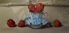 """Breakfast"" 80x40 cm, oil on canvas,Alexander Titorenkov"