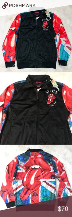 Pink  PVC JACKET SHIRT  Black White Red Blue Yellow 18-24  UK New With Tags