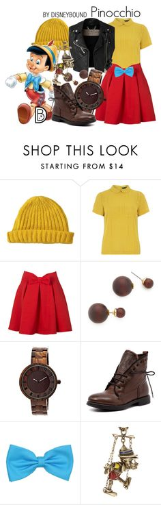"""Pinocchio"" by leslieakay ❤ liked on Polyvore featuring Lowie, Dorothy Perkins, WithChic, Burberry, Kenneth Jay Lane, Disney Couture, disney and disneybound"