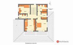 "Проект на къща ""Лаванда"", гр.Сопот Model House Plan, House Plans, Villa, Design Case, Home Projects, New Homes, Floor Plans, How To Plan, Nike"