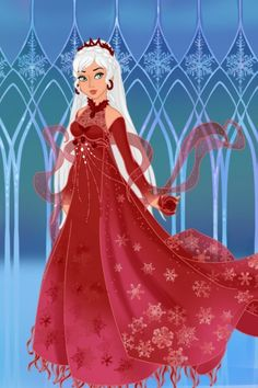 Red Snow Queen ~ by cidernine ~ created using the Azaleas Dolls doll maker | DollDivine.com
