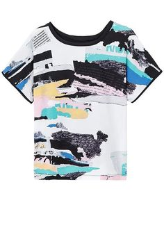 Printed Round Neck Short Sleeve Loose T-Shirt