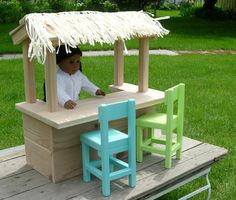 Doll Tiki Hut / Lemonade Stand / Bakery For American Girl Or 18-inch Doll - Like…