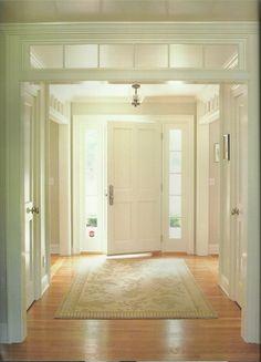 ideas for farmhouse foyer lighting transom windows Transom Windows, Windows And Doors, Entry Hall, Entrance, Entry Doors, Entryway Decor, Entryway Lighting, My Dream Home, Dream Homes