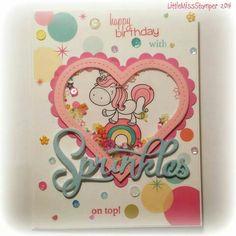 Birthday Shaker Card by LittleMissStamper. Stamp by 2cuteink Dies - PaperTrey Ink