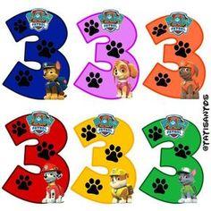 Números personalizados Patrulha canina - *3