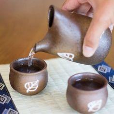 mino ware sake set iga leaf. Free Worldwide Shipping from Japan.