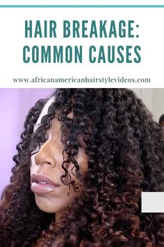 Hair breakage: Common causes, types, repair, and prevention Natural Hair Growth, Natural Hair Styles, Stop Hair Breakage, Glamour Hair, African American Hairstyles, Black Girls Hairstyles, Hair Videos, Textured Hair, Brushing