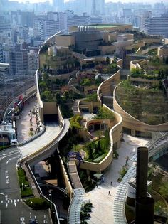 Namba Parks mixed-use development in Osaka, Japan by The Jerde Partnership