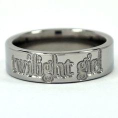 "New 6mm ""Twilight Girl"" Titanium Ring. $34.99, via Etsy.  I have to say I really like this...Really."