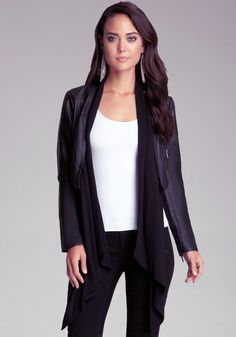 bebe | Drape Front Jacket - View All