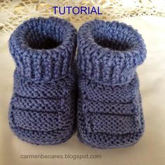 Ideas que mejoran tu vidaCollection of Knit Ankle HighHandmade baby booties for babyPattern in Spanish but a step by step tutorial makes it easy…Discover thousands of images about DIY Adorable Knitted Baby Booties da fare subito. Baby Knitting Patterns, Baby Booties Knitting Pattern, Baby Shoes Pattern, Knit Baby Booties, Crochet Baby Shoes, Knitting For Kids, Baby Patterns, Knitted Baby, Crochet Slippers