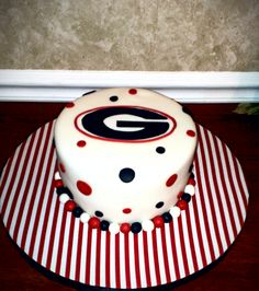 Georgia Cake! Go Dawgs! =0)