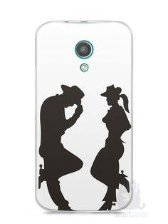 Capa Moto G2 Cowboy e Cowgirl