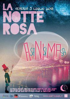 "Locandina ""La Notte Rosa 2013"""