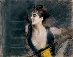 Giovanni Boldini (1842-1931), Madame X, la cognata di Helleu, 1885-90 circa, pastello su carta applicata su tela, 73x93cm; Ferrara, Museo dell'Ottocento
