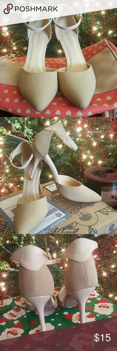 Nude Shoe Republica Heels Size 8.5 nude heels from Shoe Republica. Excellent condition. Only worn once. True to size Shoes Heels