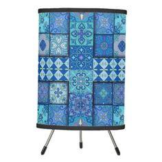 #home #lamps #decor - #Vintage mosaic talavera ornament tripod lamp