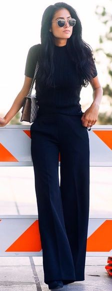 60 Fall Street Style Trends To Copy Right Now All Black Everything Business Casual Outfits, Office Outfits, Mode Outfits, Fall Outfits, Office Wear, Office Attire, Chic Outfits, Winter Outfits, Dress Winter