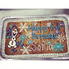 Olaf cookie sheet cake