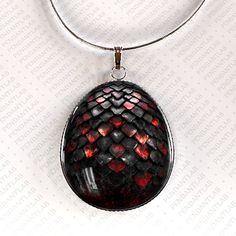 Black Dragon Egg Pendant, Jewelry, Dragon Necklace, Inspired by Game of Thrones, Dragon Egg Necklace, Dragon, Geekery, Christmas Gift