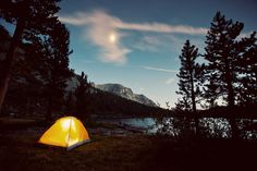 Moonlight on Purple Lake | Camp Trend