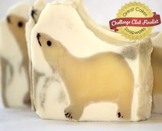 Polar Bear soap by Organza Soaps