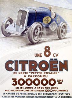 Citroen - Une 8 CV Ad Fine Art Print