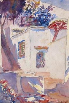 Peinture Algérie - Edouard Herzig - La Maison Arabe