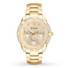 Bulova Women's Watch Diamond Bezel & Dial 98R171