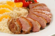 Many people don't know that you treat a duck breast more like a steak than a breast of chicken. Meaning you want to cook the breast to medium – rare to medium at most for a nice tender and succulent result.
