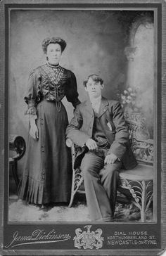 Early Edwardian wedding portrait