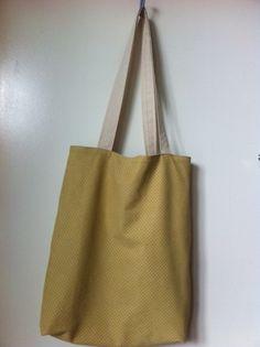 sac tote bag jaune moutarde shopping pratique : Sacs bandoulière par sheren