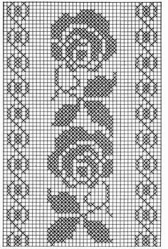 Kira scheme crochet: Scheme crochet no.Wide floral tape or oblong tableclothSchema Fascia rose Ciao a tutti ripetendo il motivo queFilet crochet by ornah kaye – ArtofitThis Pin was discovered by Kam - Salvabrani - Salvabrani Crochet Patterns Filet, Crochet Borders, Crochet Diagram, Doily Patterns, Loom Patterns, Crochet Designs, Free Crochet, Cross Stitch Borders, Cross Stitch Flowers