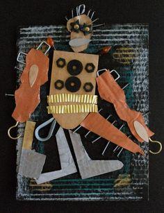 Relief sculpture robot