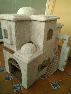 Foro de Belenismo - Anuncios comerciales - particulares -> Complementos de belén en venta Nativity House, Diy Nativity, Christmas Nativity Scene, Christmas Crafts, Christmas Decorations, Fontanini Nativity, Cement Art, Diy Crib, Ceramic Houses
