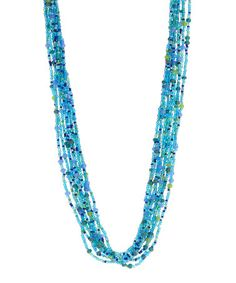 Another great find on #zulily! Caribbean Blue Glass Layered Necklace #zulilyfinds