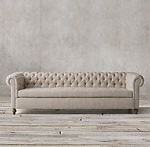 19th C. Chesterfield Upholstered Sofa