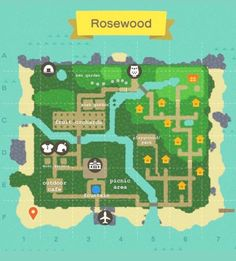 Would love some thoughts/opinions/ideas on my town map : ac_newhorizons Animal Crossing Guide, Animal Crossing Villagers, Island Map, Island Life, Motif Acnl, Map Layout, Island Design, Map Design, My Town
