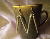 2012 Columbus Fall Avant-Garde Art & Craft Show Vendor: Curious Compositions- On Point Brass Spike Earrings