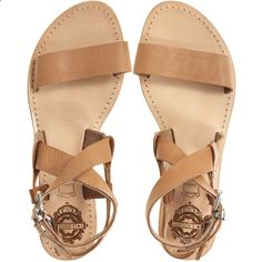 Sandals Summer SOLSANA Avery Leather Sandal ($150)  liked on Polyvore - There is nothing more comfortable and cool to wear on your feet during the heat season than some flat sandals.