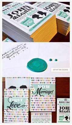 colorful modern invite