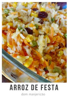 Arroz Recipe, Pasta, Risotto, Side Dishes, Good Food, Food And Drink, Cooking, Ethnic Recipes, Supper Recipes