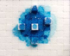 Kaushalia Khanna, ABSTRACT 1: Self standing sugar cubes, 18 x 21 cm  x 2 cm