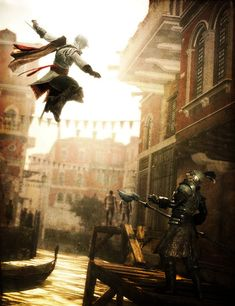 Ezio of Assassin's Creed 2 Assasins Cred, Assassin's Creed I, Assassin's Creed Wallpaper, Assassins Creed Series, Film, Images, Cool Pictures, Anime, Marvel